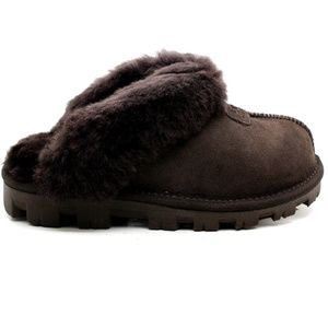 UGG Brown Coquette Slipper Chocolate Suede 10